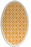 rug #111045   oval light-orange circles rug