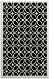 rug #111053    white circles rug