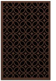 rug #111065 |  brown circles rug