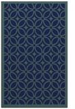 rug #111081    blue geometry rug