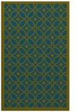 rug #111109 |  green circles rug