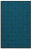 rug #111129 |  blue-green geometry rug