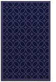 rug #111133 |  blue-violet circles rug