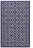 rug #111137 |  blue-violet circles rug
