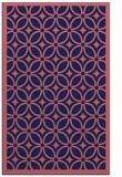 rug #111141    blue-violet borders rug