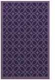 rug #111145 |  blue-violet circles rug