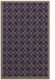 rug #111157 |  blue-violet circles rug