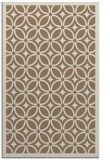 rug #111201 |  mid-brown borders rug