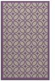 rug #111229 |  purple circles rug