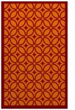 rug #111237 |  orange geometry rug