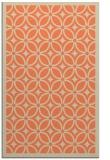 rug #111245 |  orange geometry rug