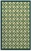 rug #111253 |  blue-green circles rug