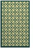 rug #111253 |  blue-green borders rug