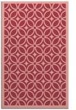 rug #111265 |  pink circles rug