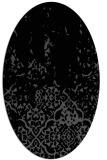 rug #1112746 | oval black rug