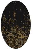rug #1112766 | oval brown damask rug