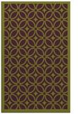 rug #111277 |  green circles rug