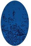 rug #1112770 | oval blue damask rug