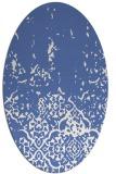 rug #1112786 | oval blue faded rug