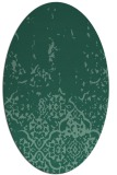 rug #1112794 | oval blue-green rug