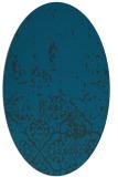 rug #1112806 | oval blue faded rug