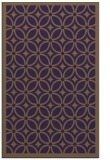 rug #111281 |  mid-brown circles rug
