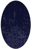 rug #1112826 | oval blue-violet damask rug