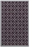 rug #111285 |  purple circles rug