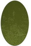 rug #1112866 | oval green damask rug