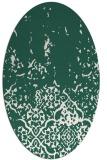 rug #1112874 | oval green damask rug