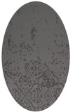 rug #1112891 | oval faded rug