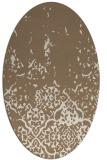 rug #1112894 | oval beige traditional rug