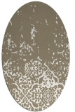 rug #1112898 | oval white faded rug
