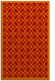 rug #111293 |  orange circles rug