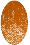 rug #1112946   oval orange traditional rug