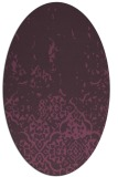 rug #1112974 | oval purple rug