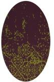 rug #1112978 | oval purple faded rug