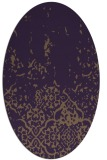 rug #1112982 | oval purple natural rug