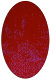 rug #1113002 | oval red traditional rug