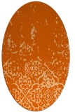 rug #1113010   oval red-orange faded rug