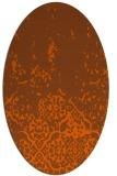 rug #1113014 | oval red-orange damask rug