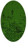 rug #1113022 | oval light-green faded rug