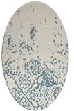 rug #1113046 | oval white rug