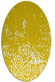rug #1113062   oval yellow damask rug