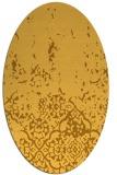rug #1113066 | oval light-orange traditional rug