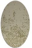 rug #1113088 | oval damask rug