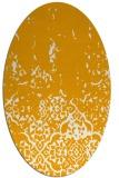 rug #1113090 | oval light-orange faded rug