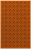 rug #111313 |  red-orange circles rug