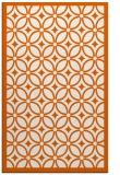 rug #111317 |  red-orange circles rug
