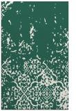 rug #1113242    blue-green damask rug